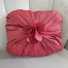 Pink satin cushion