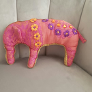 Pink elephant cushion