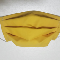 3 Layer Mustard Yellow Cotton Face Mask Reuse Washable