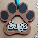 Personalised Paw Print Bauble