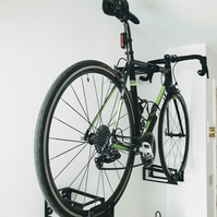 Fully Supporting Bike Wall Mount- Protects Walls From Bike Damage.