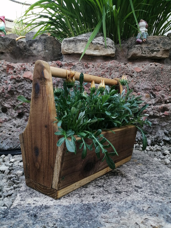 Beautiful Handmade old fashioned toolbox planter