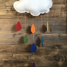 Cloud Mobile with Raindrops