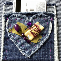 Denim Gift Card Holder