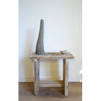 Dolmen Stool & Side Table (Natural raw matte finish).