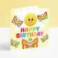 Happy Birthday Girls Birthday Card - Children's Colourful Butterfly Card