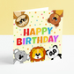 Happy Birthday Card - Baby Animal Birthday Card
