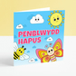Penblwydd Hapus - Children's Colourful Butterfly and Bee Welsh Birthday Card