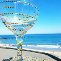 Gill's Gin Glass 'The Spiral'