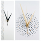 Handpainted White Wall Clock 30cm x 10cm