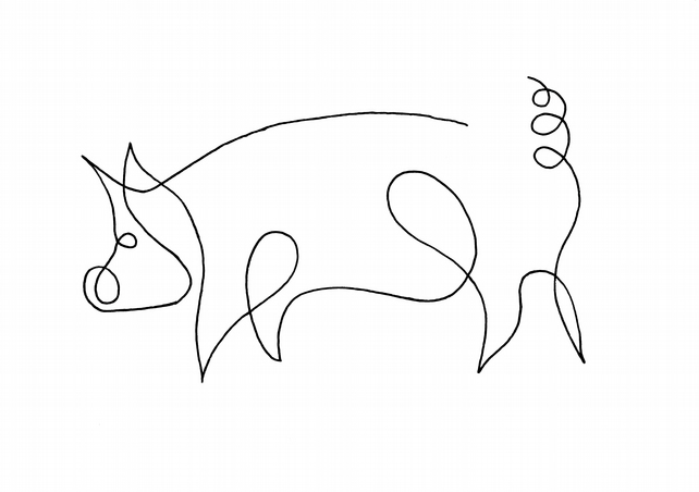 Pig Print - Signed and Mounted