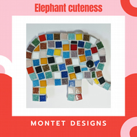 Elephant Family Mosaic Kit