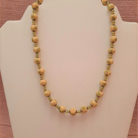 Yellow and lime beaded necklace