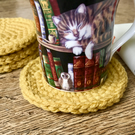 Mustard Coloured Coasters (Set of 4)