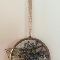 Up cycled hanging decoration