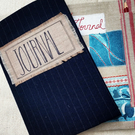 Journal with handmade reusable cover