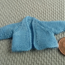 1-12th scale hand knitted blue cardigan