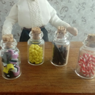 dolls house sweets - 4 jars of sweets