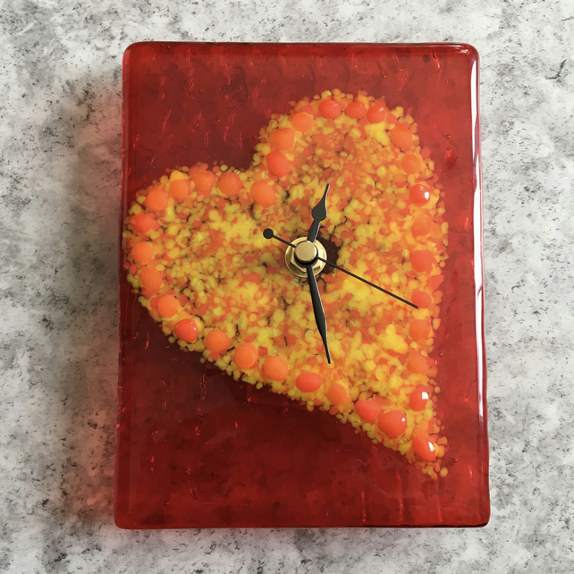 Fused Glass Clock 2-90
