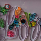 Quilled Framed love picture
