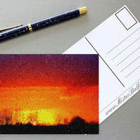 'Warm Feeling' Set of 2 Digital Art Mosaic Postcards