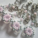 Beautiful handmade bead keyrings