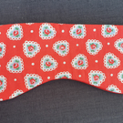 Eye and Sleep mask made with Cath Kidston Rose harts material