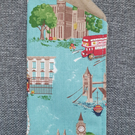Glasses Case made with Cath Kidston London scene Green