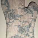 Oven Glove made with Laura Ashley Aviary Garden Birds