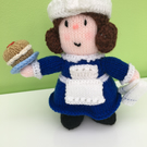 "Hand Knitted ""Molly"" the Tea Shop Owner Doll"
