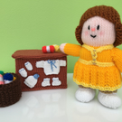 "Hand Knitted ""Rose"" the Wool Shop Owner Doll"