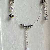 SWAROVSKI wire necklace - clear