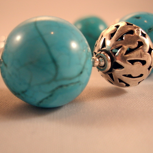 Bold Turquoise and Sterling Silver Bracelet