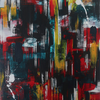 Abstract 52-20 Fine art by AJ Aspinall  original canvas painting 30x20""