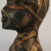 Alala 177-19 Fine art by AJ Aspinall original abstract sculpture head
