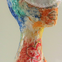Lana 178-18 Fine art by AJ Aspinall original abstract sculpture head