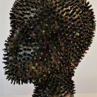 Luisa 96-19 Fine art by AJ Aspinall original abstract sculpture head