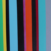 Abstract Stripe 10-19 Fine art by AJ Aspinall original canvas painting 12x48