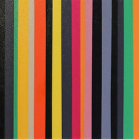 Abstract Stripe 25-19 Fine art by AJ Aspinall original canvas painting 12x48""