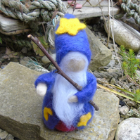 Needle felt wizard, Halloween doll, collectable figure, hand made