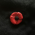 Poppy buckle Red Black