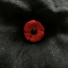 Poppy Pin Red Black