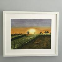 Sunset - Original Watercolour Painting