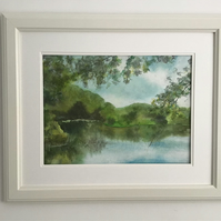 Leafy pool - Original Watercolour