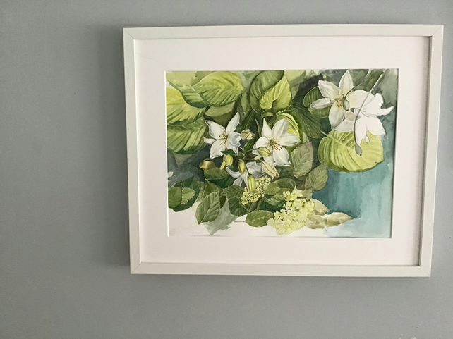 Garden Lilies - Original Watercolour Painting