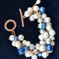 Pearl Bubble Bracelet with toggle clasp