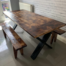Handmade Stylish Industrial Wooden Dining Table