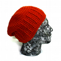 Mens Burnt Orange Beanie