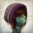 Purple, Pink and Grey Beanie