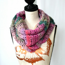 Pink, Lilac and Green Scarf